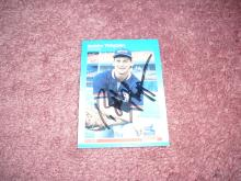 Bobby Thigpen 1987 Fleer Autograph Rookie Card
