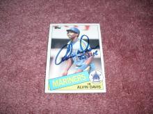 Alvin Davis 1985 Topps Autogrpah Rookie Card