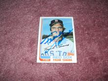 Frank Tanana 1982 Topps Autograph Card (Red Sox)