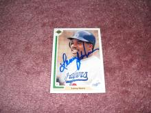 Lenny Harris Autograph Card (All Time Pinch Hit Leader)
