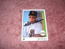 Matt Williams Autograph 1989 Upper Deck Card