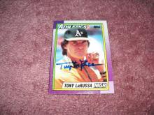 Tony LaRussa Autograph Card