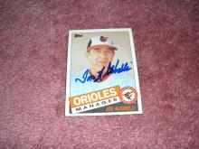 Joe Altobelli Autograph Card (Orioles Manager)