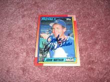 John Wathan Autograph Card (Royals Manager)