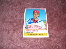 Russ Nixon Autograph Card (Reds Manager)