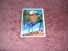 Jim Fanning Autograph Card (Expos Manager)