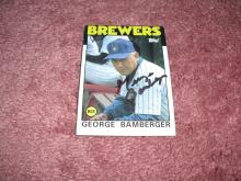 George Bamberger Autograph Card (Brewers Manager)