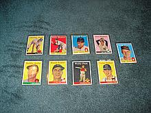 1958 Topps (9) Card Lot
