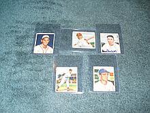 1950 Bowman (5) Card Lot