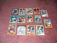 Baltimore Orioles Autograph 14 Card Team Lot