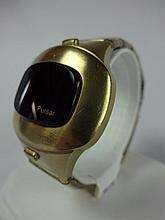 Hamilton Pulsar Date Command Gold Filled Stainless Back