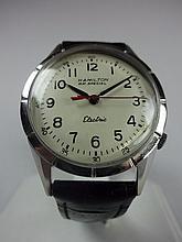 1962 Hamilton RR Special #50 Nautilus Style Electric Wristwatch 505 Movement