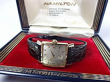 1957 Hamilton Sinclair 14kt Gold Case 22j Mechanical Movement