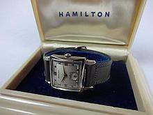 1952 Hamilton Ryan Wristwatch 19j 754 Movement Camelback Box