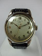 1952 Hamilton Lyndon CLD Wristwatch 18j Genuine Lizard Band