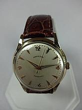 1959 Thin-o-matic T-201 Wristwatch 17j Swiss Movement 14k Solid Gold
