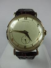 1956 Hamilton Bradford With Parker Dial Award Wristwatch 14kt Solid Gold
