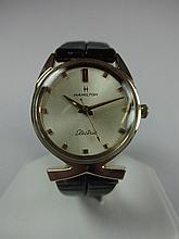 Hamilton Polaris 14kt Solid Gold Award Wristwatch NOS Leather Band