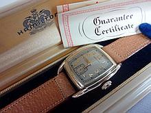 1939 Hamilton Dodson Wristwatch 987a Grade Movement 17j with NOS Pigskin Band