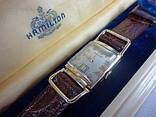 1941 Hamilton Wilshire Wristwatch 19j 982 Grade Movement