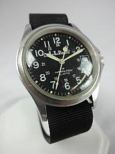 L.L. Bean Khaki Field Wristwatch Black Dial Quartz