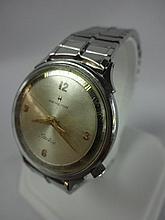1964 Hamilton Nautilus 503 Stainless Steel Wristwatch 505 Electric