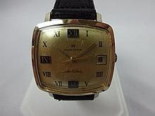 1969 Hamilton Electric Wristwatch Roman Numeral Dial Yellow Gold Filled