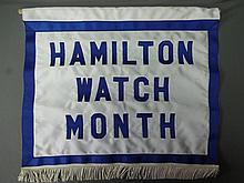Hamilton watch month store banner flag