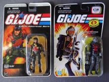 Lot of 2 GI Joe Action Figures Grand Slam and Cobra Frogman