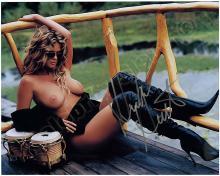 RACHEL HUNTER 1980s-1990s SIGNED PHOTOS (x10) W/ NUDES
