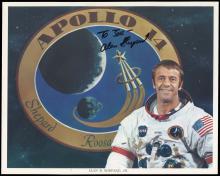 APOLLO 14 1971 ALAN SHEPARD SIGNED NASA LITHO