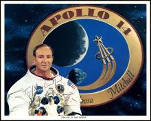 APOLLO 14 1971 EDGAR MITCHELL SIGNED LITHOS (x2)