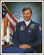 APOLLO 16 1972 JOHN YOUNG SIGNED NASA LITHO