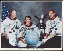 SKYLAB 4 1973-74 CREW & INDIVIDUAL ASTRONAUT SIGNED NASA LITHOS