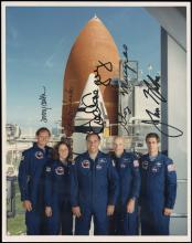 1989 STS-33 CREW SIGNED OFFICIAL NASA PHOTO