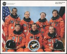 1993 STS-55 CREW SIGNED LITHO