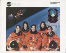 1995 STS-70 CREW SIGNED NASA LITHO