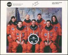 1995 STS-73 CREW SIGNED NASA LITHO
