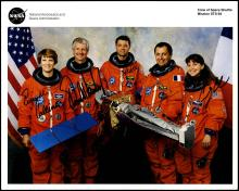 STS-93 1999 CREW SIGNED NASA COLOR LITHO
