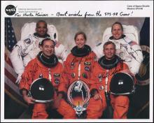 STS-98 2001 CREW SIGNED NASA LITHO