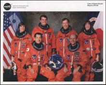 STS-99 2000 CREW SIGNED NASA LITHO