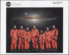 STS-109 2002 CREW SIGNED NASA LITHO