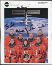STS-110 2002 CREW SIGNED NASA LITHO