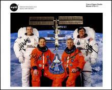STS-111 2002 FLIGHT CREW SIGNED NASA LITHO