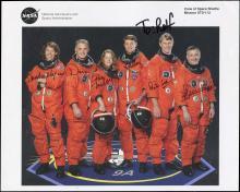 STS-112 2002 CREW SIGNED NASA LITHO