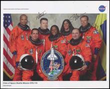 STS-116 2006 CREW SIGNED NASA LITHO