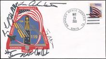 STS-119 2009 CREW SIGNED LAUNCH COVER