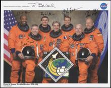 STS-122 2008 CREW SIGNED NASA LITHO