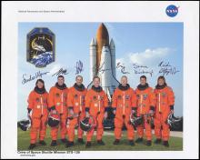 STS-126 2008 CREW SIGNED NASA LITHO