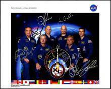 EXPEDITION 40 2014 CREW SIGNED NASA COLOR LITHO
